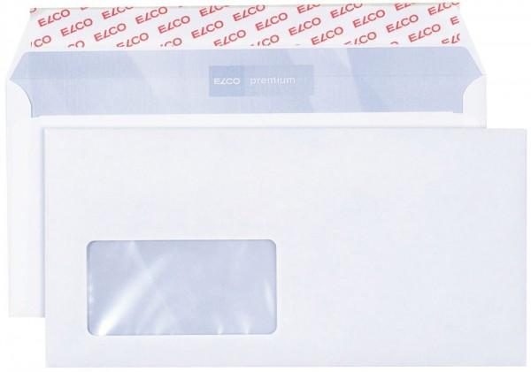 Briefumschlag mit Fenster, DIN lang, Haftklebung, 1000 Stck