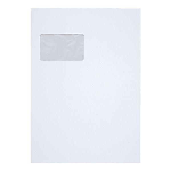 C 4 Versandtasche mit Fenster, Palette 11.000 St, weiss Offset,