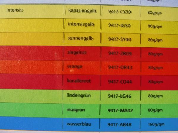 Farbiges Kopier-und Laserpapier, intensivfarbig, 80g, 25.000 Bl.