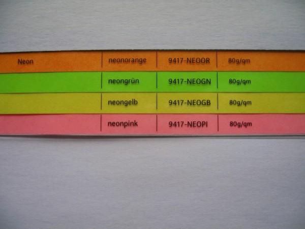 Farbiges Kopier-und Laserpapier, neonfarbig, 80g, 25.000 Bl.