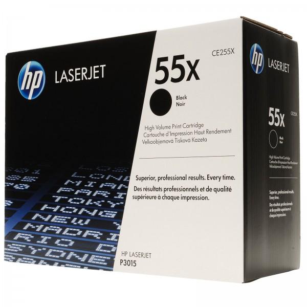 HP Toner CE255X schwarz 12500 Seiten
